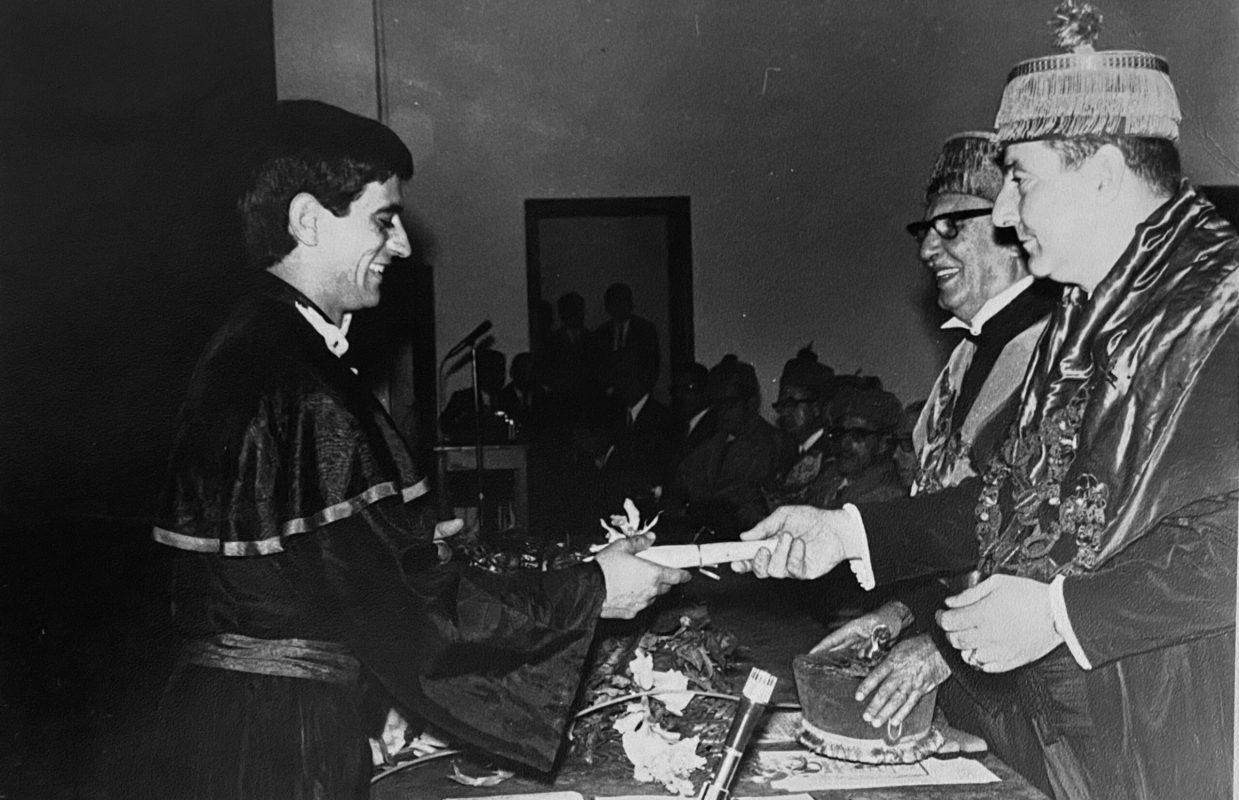 Formatura Dr. Gilberto Diogo em dezembro de 1970